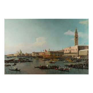 Basin of San Marco on Ascension Day (by Canaletto) Poster