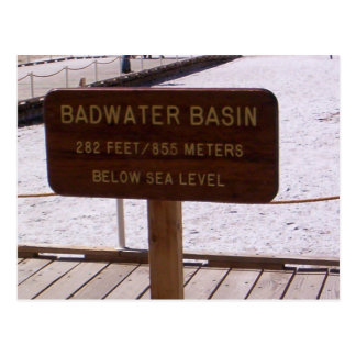 Basin Sign Postcard Postcards