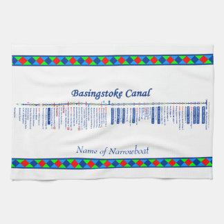 Basingstoke Canal UK Inland Waterways Route Blue Hand Towel