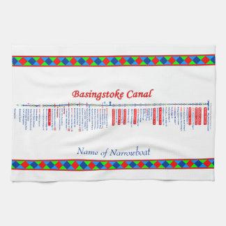 Basingstoke Canal UK Inland Waterways Route Red Towel