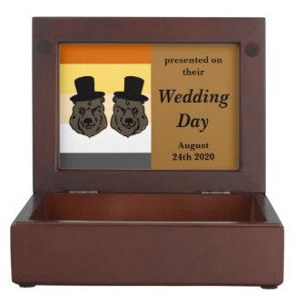 Baskerville Bear Pride Gay Grooms' Wedding Gift Memory Box