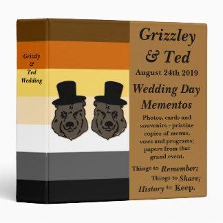 Baskerville Bears Gay Grooms' Wedding Album Binders
