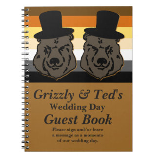 Baskerville Bears: Gay Wedding Guestbook for Bears Notebook