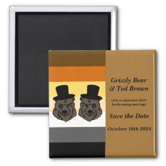 Baskerville Bears Save The Date Magnet Gay Wedding