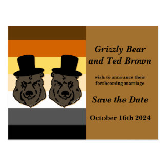 Baskerville Bears Wedding Save the Date Postcard