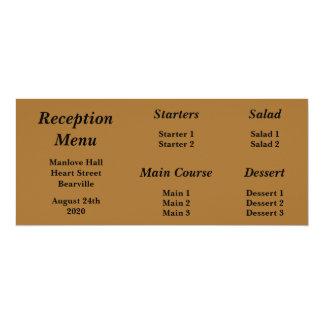 Baskerville lleva el menú para la cena de boda gay invitación 10,1 x 23,5 cm