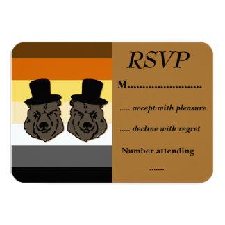 Baskerville lleva el orgullo RSVP para los bodas Invitación 8,9 X 12,7 Cm
