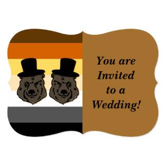 Baskerville lleva la invitación gay del boda para invitación 12,7 x 17,8 cm