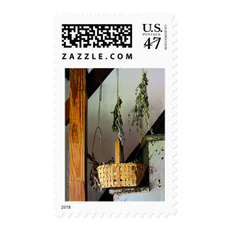Basket and Drying Herbs Postage