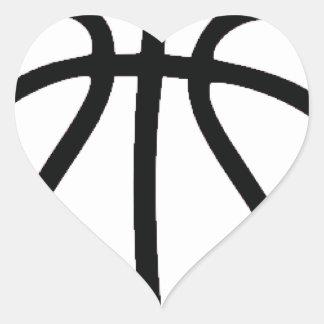 basket ball concept heart sticker