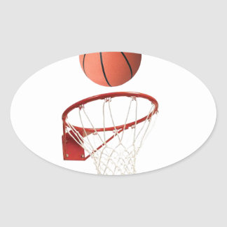 """Basket ball"" design gifts and products Oval Sticker"
