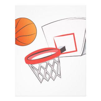 Basket Ball Letterhead