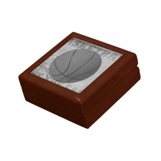 Basket Ball Love The Game in Black and White Jewelry Box