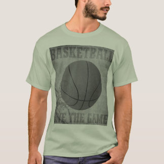 Basket Ball Love The Game in Black and White T-Shirt