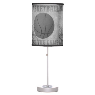 Basket Ball Love The Game in Black and White Table Lamp