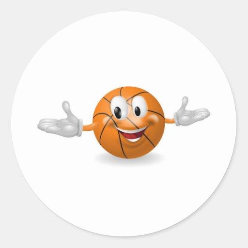 Basket Ball Man Classic Round Sticker