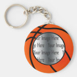 basket ball photo keychain