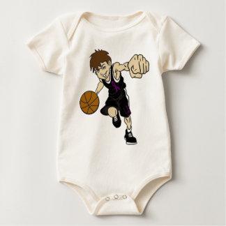 BASKET BOY BABY BODYSUIT