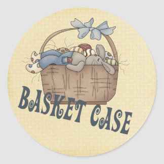 Basket Case Classic Round Sticker
