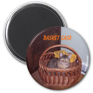 Basket Case Kitty Magnet