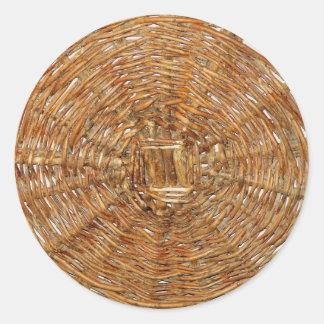 Basket Classic Round Sticker