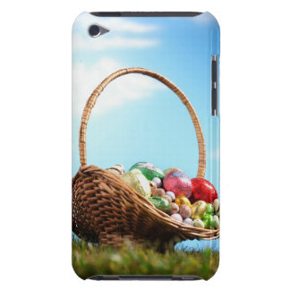 Basket filled with Easter eggs on grass, ground Barely There iPod Cover