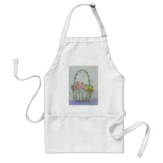Basket flowers, be my flower girl adult apron
