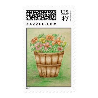 basket flowers postage
