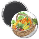 Basket fresh vegetables refrigerator magnet