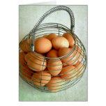 Basket Full of Brown Eggs Card
