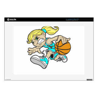 "BASKET GIRL AUTISM RIBBON 15"" LAPTOP SKIN"