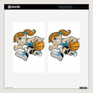 BASKET GIRL AUTISM RIBBON DECALS FOR KINDLE FIRE
