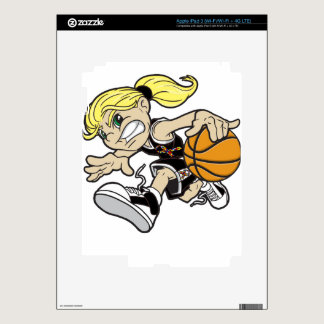 BASKET GIRL AUTISM RIBBON iPad 3 SKINS