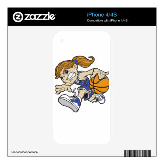 BASKET GIRL AUTISM RIBBON iPhone 4 DECAL