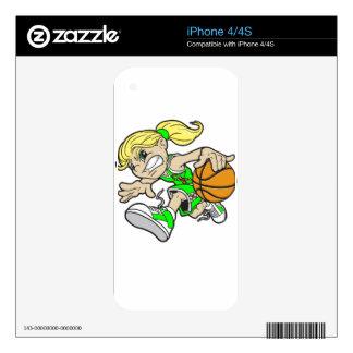 BASKET GIRL AUTISM RIBBON iPhone 4 DECAL