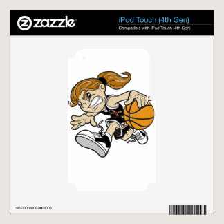BASKET GIRL AUTISM RIBBON iPod TOUCH 4G DECALS
