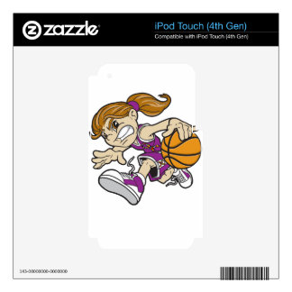 BASKET GIRL AUTISM RIBBON iPod TOUCH 4G SKIN