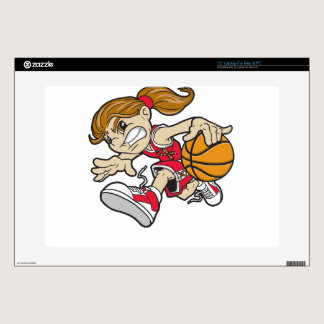 BASKET GIRL AUTISM RIBBON LAPTOP SKIN
