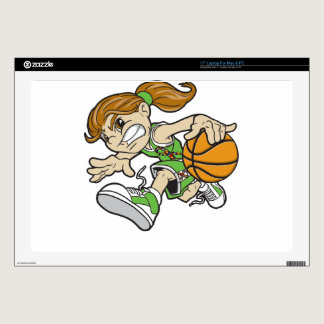 "BASKET GIRL AUTISM RIBBON SKIN FOR 17"" LAPTOP"