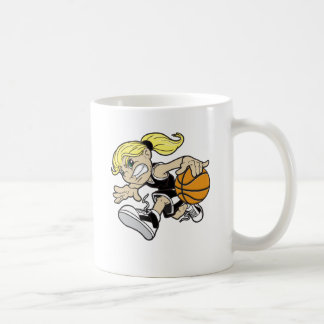 BASKET GIRL CLASSIC WHITE COFFEE MUG