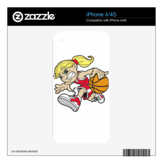 BASKET GIRL DECAL FOR iPhone 4