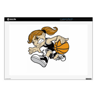 BASKET GIRL DECAL FOR LAPTOP