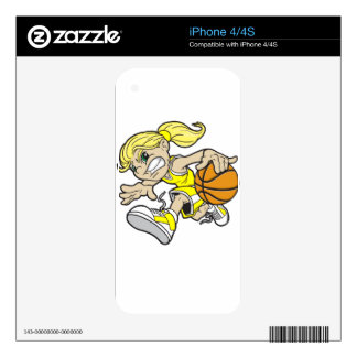 BASKET GIRL DECAL FOR THE iPhone 4