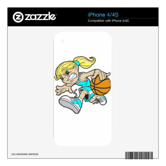 BASKET GIRL iPhone 4 DECALS