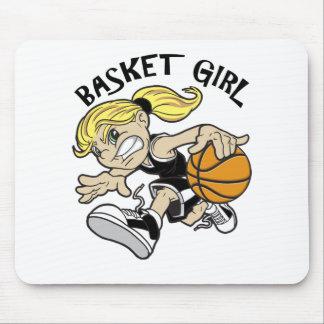 BASKET GIRL MOUSE PAD