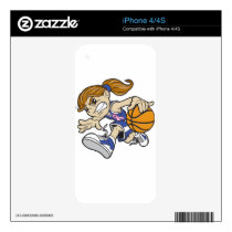 BASKET GIRL PINK RIBBON DECAL FOR iPhone 4S