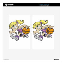 BASKET GIRL PINK RIBBON KINDLE FIRE DECAL
