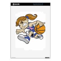 BASKET GIRL PINK RIBBON SKIN FOR iPad 2
