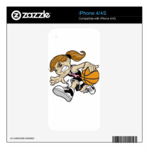 BASKET GIRL PINK RIBBON SKIN FOR THE iPhone 4S