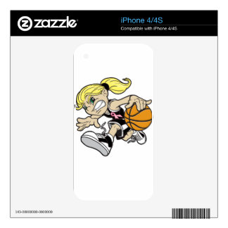 BASKET GIRL SKIN FOR iPhone 4S